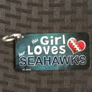 This Girl Loves her Seahawks Novelty Key Chain